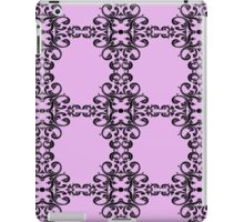 Damask in Pink and black  iPad Case/Skin