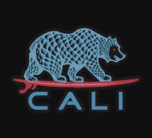 Cali Bear (Light Blue With Black Border) Baby Tee