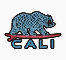 Cali Bear (Light Blue With Black Border) Kids Clothes