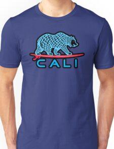 Cali Bear (Light Blue With Black Border) Unisex T-Shirt