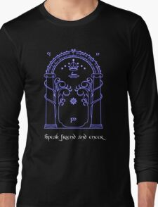 Speak friend and enter (Dark tee) Long Sleeve T-Shirt
