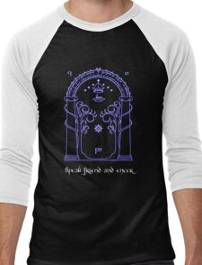 Speak friend and enter (Dark tee) Men's Baseball ¾ T-Shirt