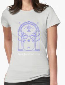 Speak friend and enter (Dark tee) Womens Fitted T-Shirt
