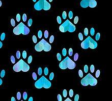 Blue Paw Pattern by shaneisadragon