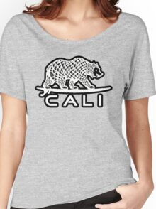 Cali Bear White with Black Women's Relaxed Fit T-Shirt