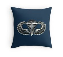 Paratrooper Jump Wings Throw Pillow