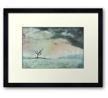 The island of solitude Framed Print