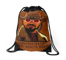 He is a rambunctious one ain't he? Drawstring Bag