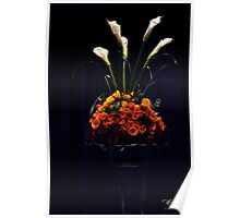 Roses and Calla Lilies Poster