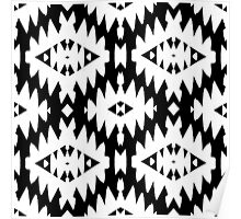 Pattern with Native American art motifs Poster