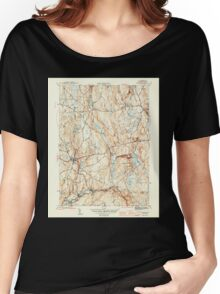 Massachusetts  USGS Historical Topo Map MA Barre 351509 1946 31680 Women's Relaxed Fit T-Shirt