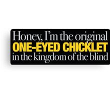 Buffy - Original one-eyed chicklet Canvas Print