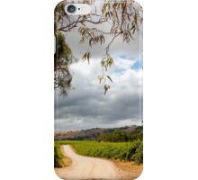Storm across the vineyard iPhone Case/Skin