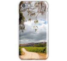 Storm across the vineyard iPhone Case/Skin