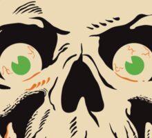 Creepy Skull with Eyeballs Sticker