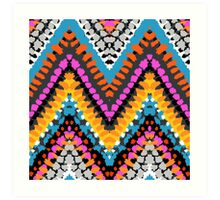 Chevron pattern wit dotted lines Art Print
