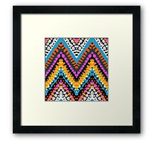 Chevron pattern wit dotted lines Framed Print