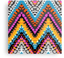 Chevron pattern wit dotted lines Metal Print