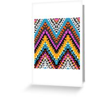 Chevron pattern wit dotted lines Greeting Card