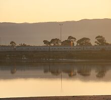 Hot sunrise,Port Augusta,S.A. by elphonline