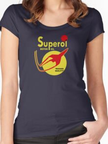 Superol Motor Oil Shirt Women's Fitted Scoop T-Shirt