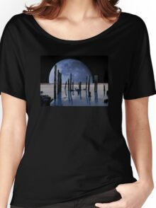 Surreal Moon Women's Relaxed Fit T-Shirt