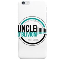 Uncle O'blivion Logo iPhone Case/Skin
