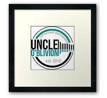 Uncle O'blivion Logo Framed Print