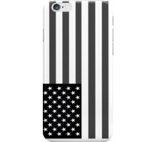American Flag Black And White iPhone Case/Skin