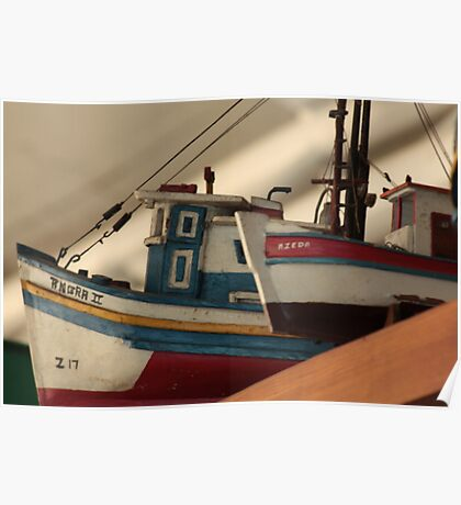 Miniture Boats Poster