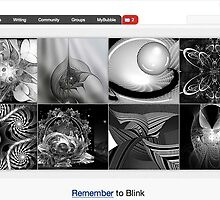 Black & White Fractal Abstracts - 1 September 2010 by The RedBubble Homepage