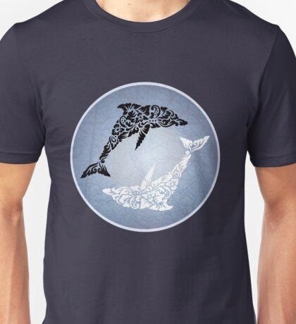 Yin yang dolphin Unisex T-Shirt