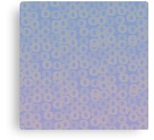 Artistic Watercolor Wash:  Blue and Pink Circles Canvas Print