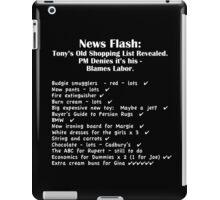 Tony's Shopping List - White Text  iPad Case/Skin