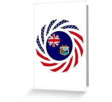 Saint Helena American Multinational Patriot Flag Series Greeting Card