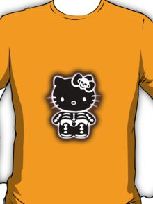 Shadow Skelly Kitty  T-Shirt