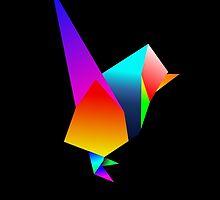 Origami Wren by Michael Blais