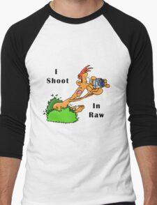 I Shoot In Raw Men's Baseball ¾ T-Shirt