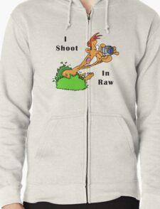 I Shoot In Raw Zipped Hoodie