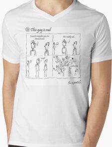 This guy is rad Mens V-Neck T-Shirt