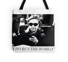 Hillary Run The World Tote Bag