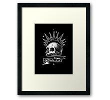 Misfit Skull Black Framed Print