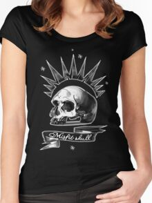 Misfit Skull Black Women's Fitted Scoop T-Shirt