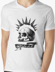 Misfit Skull Black Mens V-Neck T-Shirt