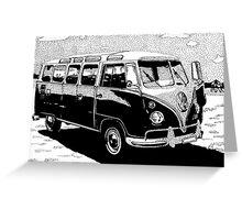Volkswagen Bus Greeting Card