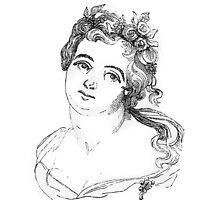 """Dido"" engraving after Gigoux, Gil Blas 1835 by OldeArte"