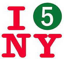 I love the number 5 subway New York City by hookink