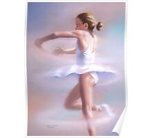 Piroette - Young ballerina spinning Poster