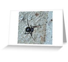 Face-to-deadly Black Widow face Greeting Card
