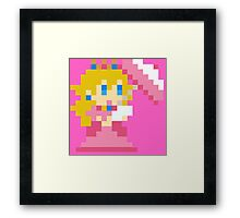 8 bit princess peach Framed Print